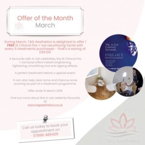 March Offer Fire and Ice Treatment